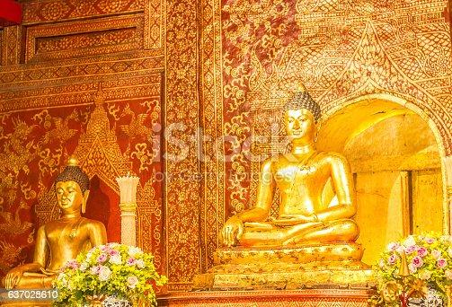 istock Buddha Statues in Thailand 637028610