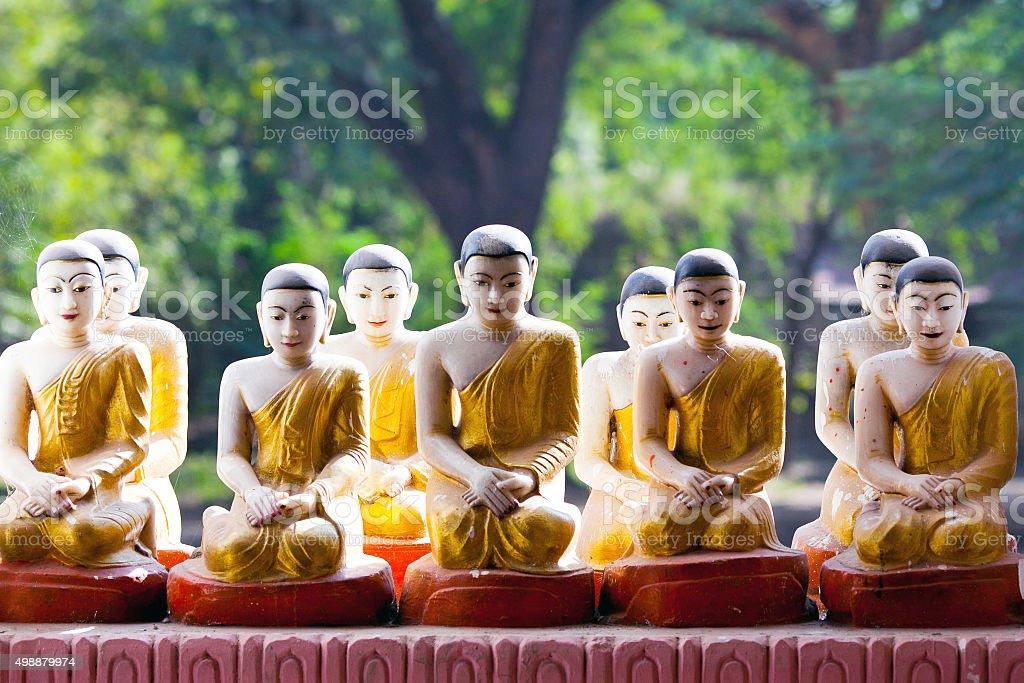 Buddha statues, Myanmar stock photo