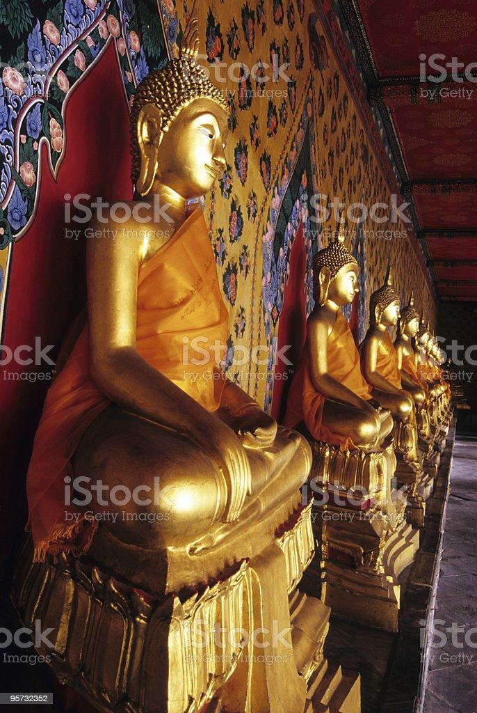 Buddha Statues, Wat Arun, Bangkok, Thailand royalty-free stock photo