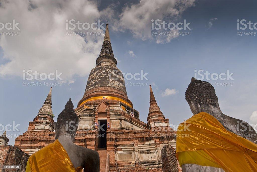 Buddha Statues, Wat Yai Chai Mongkhon, Ayutthaya, Thailand stock photo