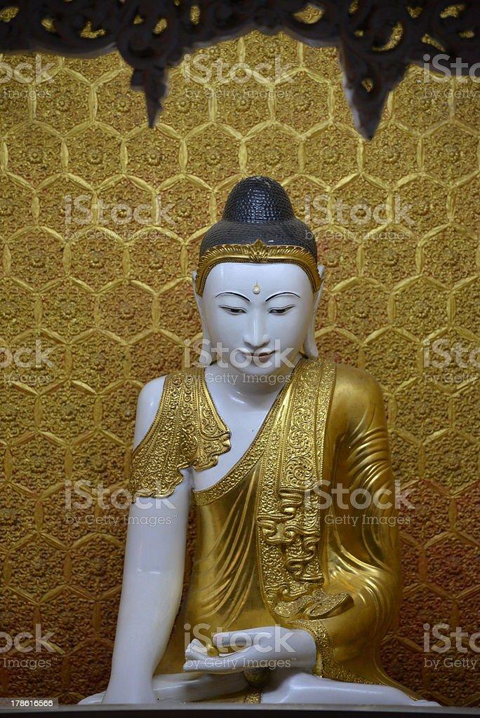 Buddha statur in Myanmar stock photo