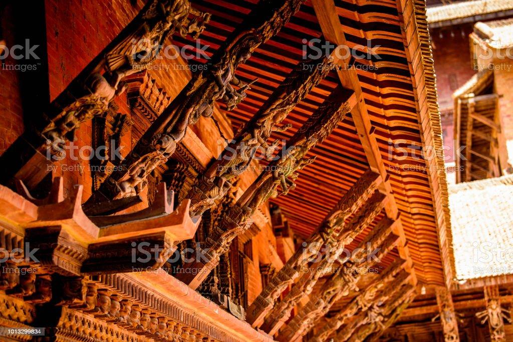 Buddha temple in Kathmandu, the capital city of the Federal Democratic Republic of Nepal, Asia stock photo