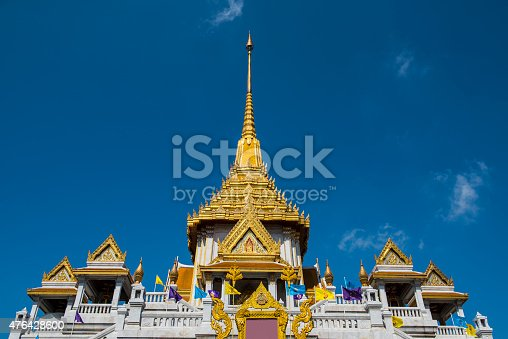 Buddha Temple of Wat Trimitr in Bangkok, Thailand. Temple of the Golden Buddha