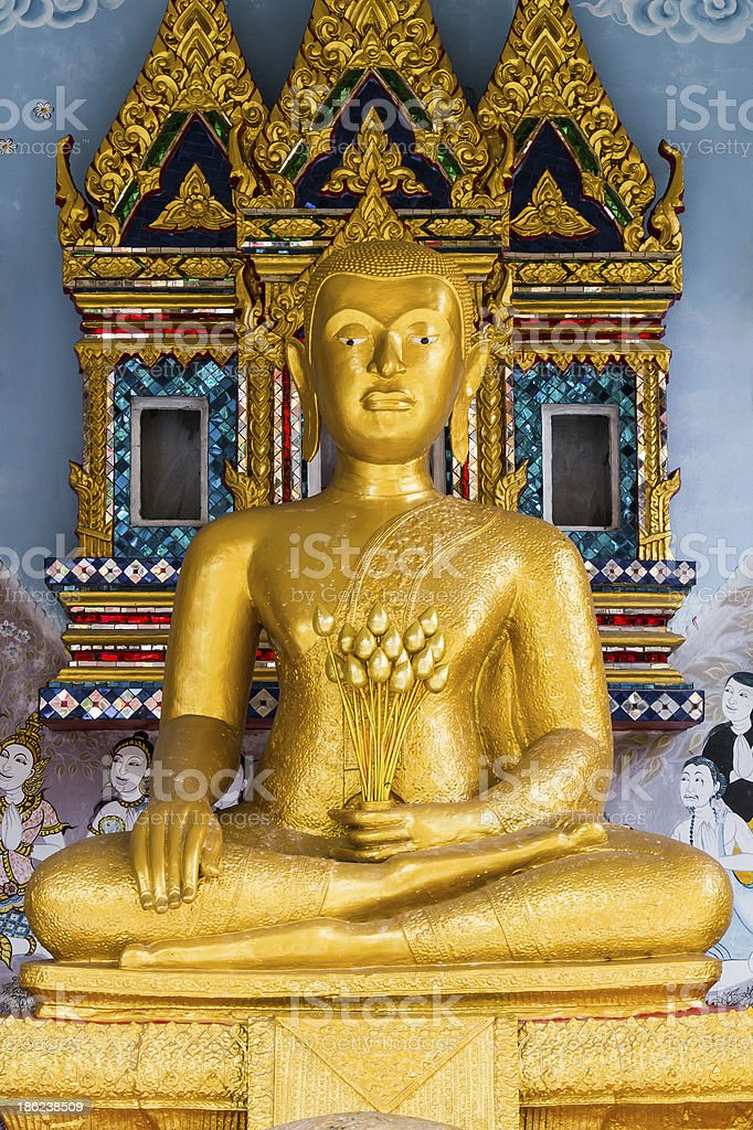buddha thai in temple royalty-free stock photo