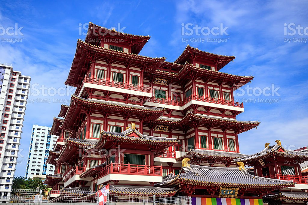Buddha Toothe Relic Temple foto royalty-free