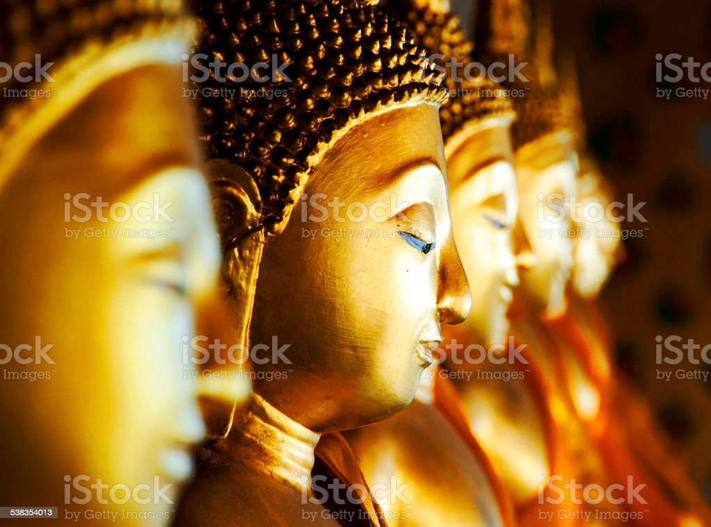 Buddhas at Wat Arun, Bangkok, Thailand stock photo