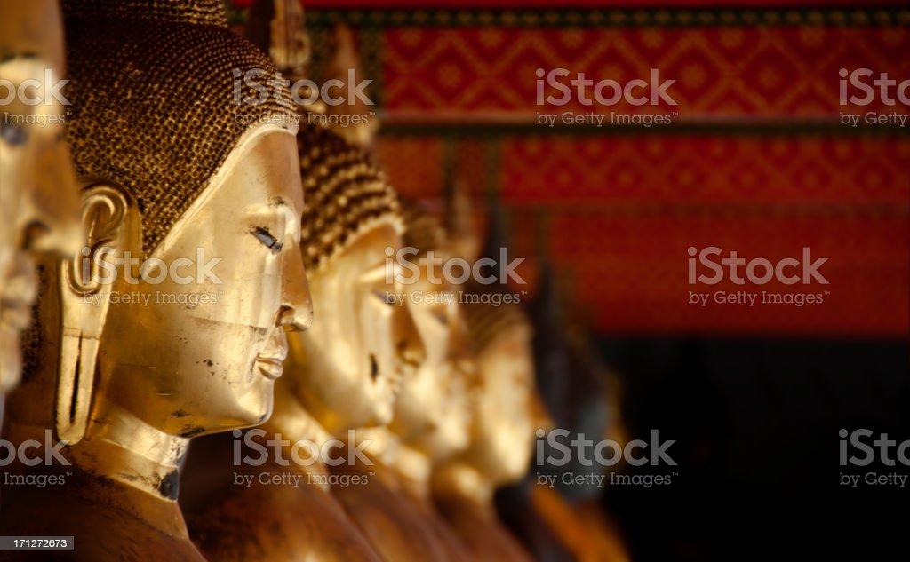 Buddhas at Wat Pho royalty-free stock photo