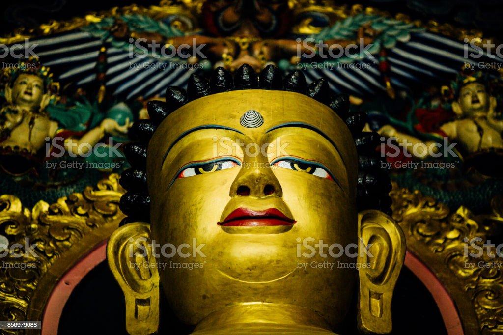 Buddha's eyes stock photo