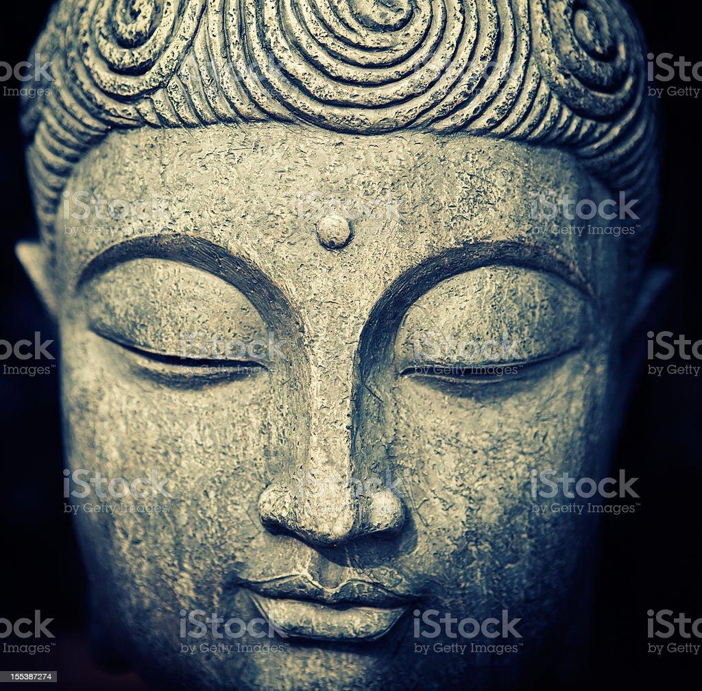 Buddha's Face royalty-free stock photo