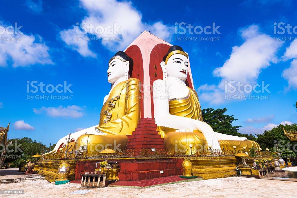 4 Buddhas of Bago stock photo