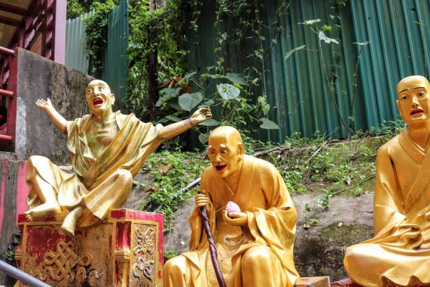 10,000 Buddhas stock photo