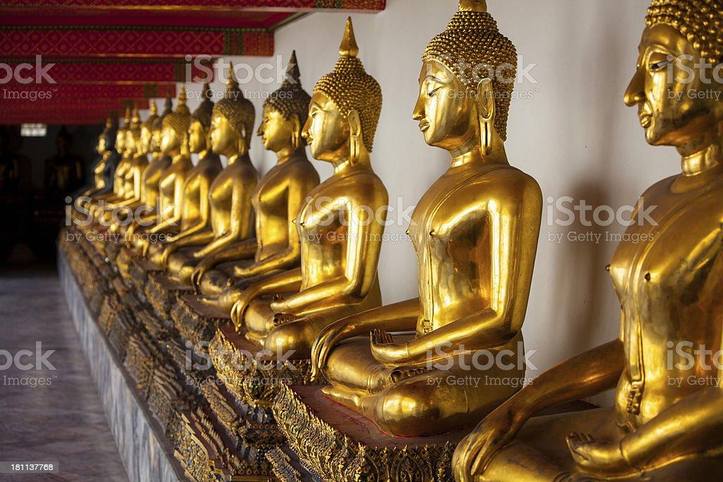 Buddhas stock photo