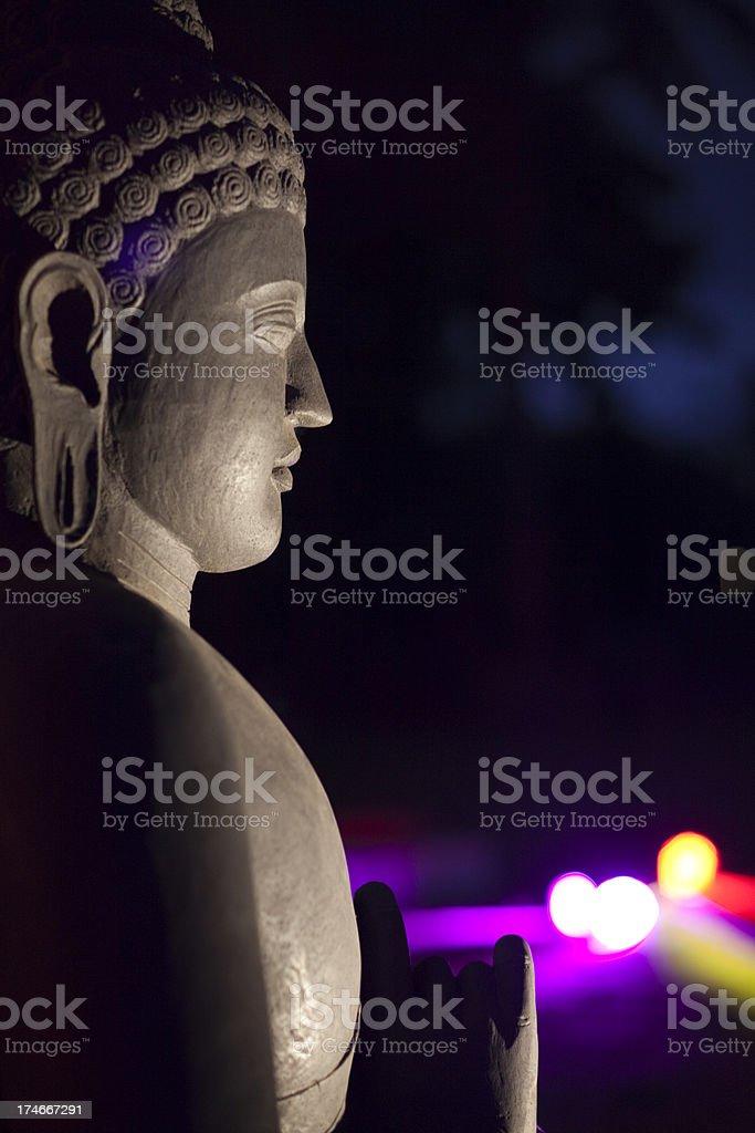 buddha's profile stock photo