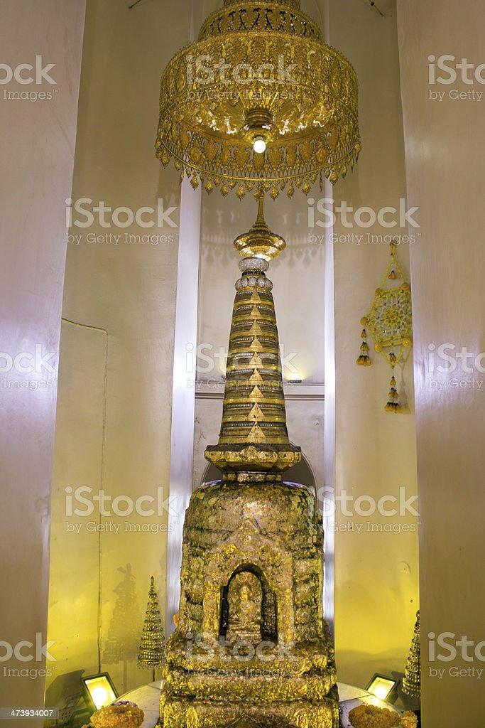 Buddha's relics in Wat Saket, Golden Mount, Bangkok royalty-free stock photo