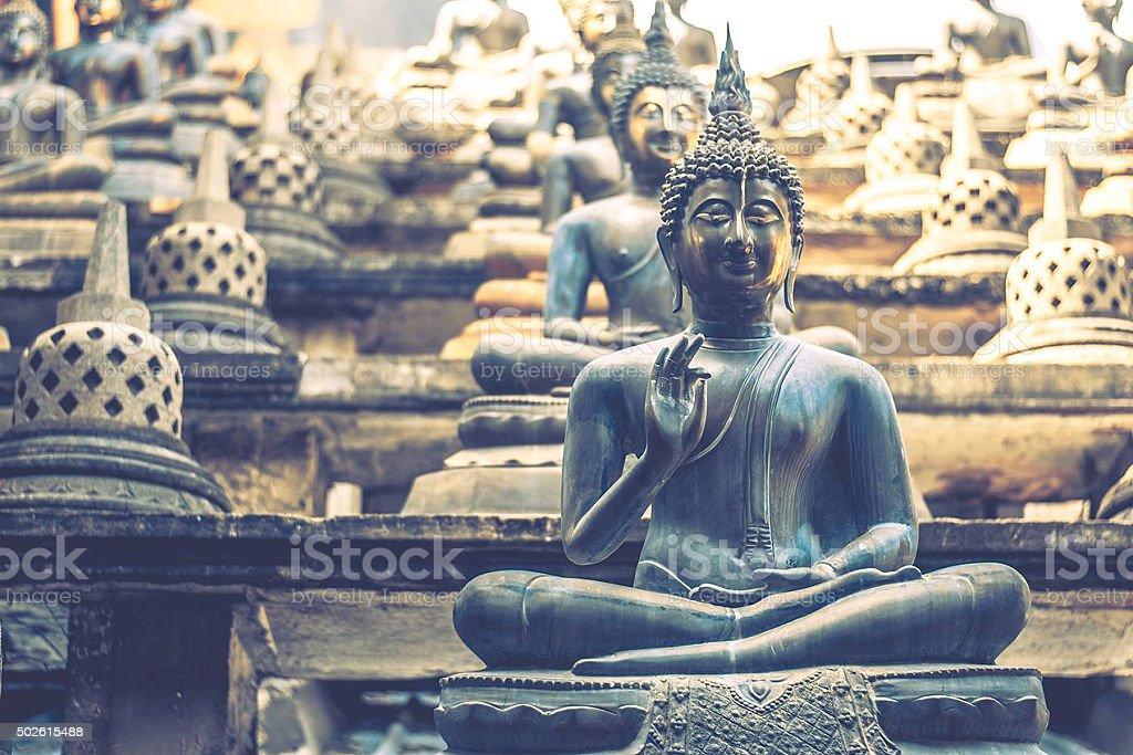 Buddha's statues stock photo