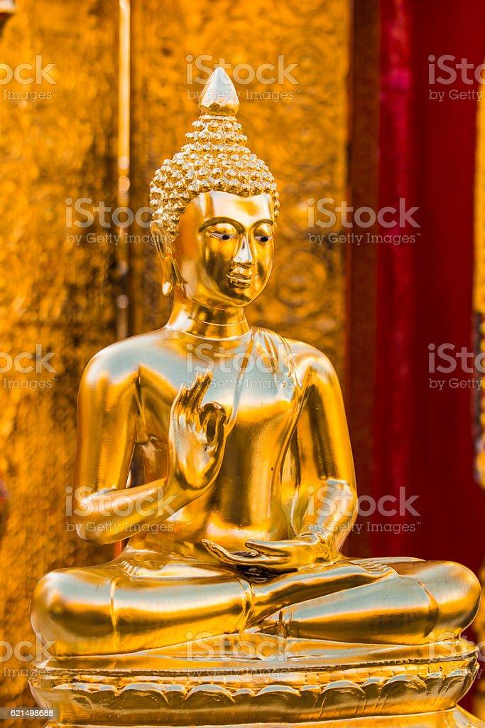 BuddhaStatue in Wat Phra That Doi Suthep Thailand photo libre de droits