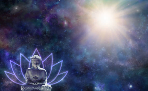 buddhism enlightenment background - detachment stock pictures, royalty-free photos & images
