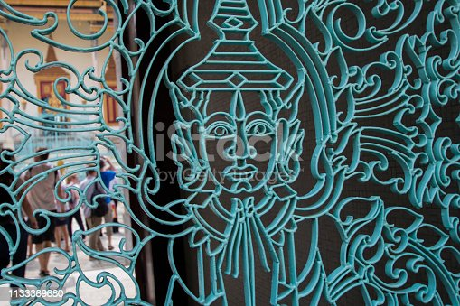 Buddhism gate to a traditional Asian temple