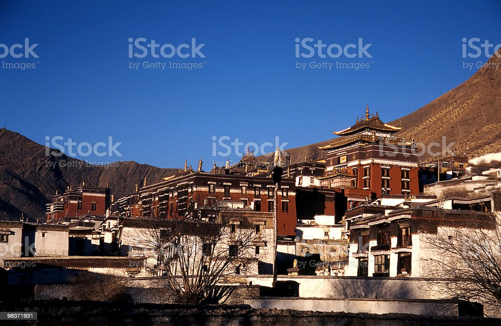 buddhism monastery royalty-free stock photo
