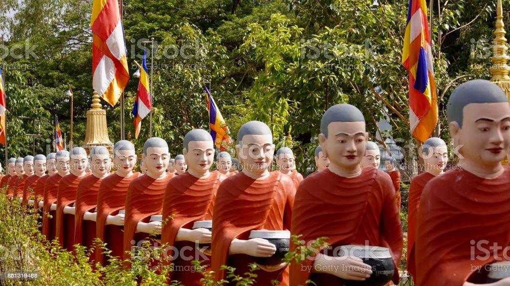 Buddhism monks stock photo