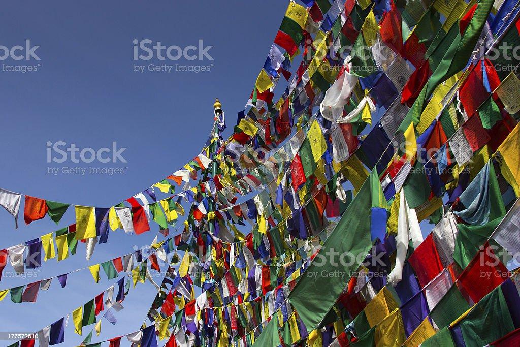 Buddhism, Prayer flags royalty-free stock photo
