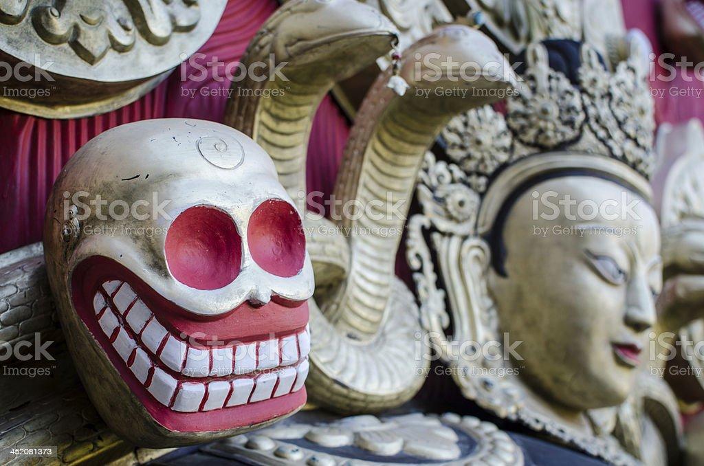 Buddhism scull stock photo