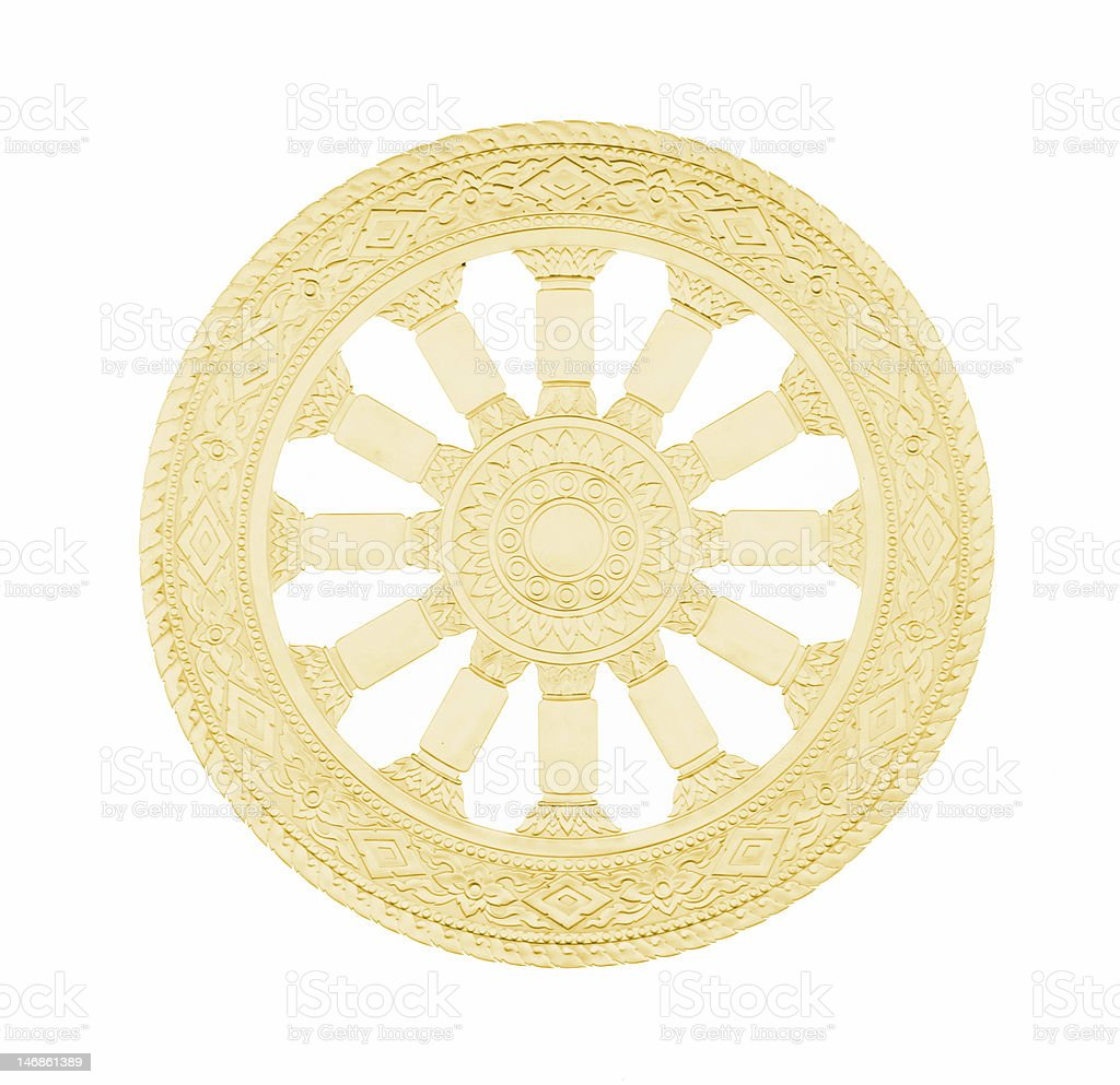 Buddhism Symbol Wheel of Life stock photo