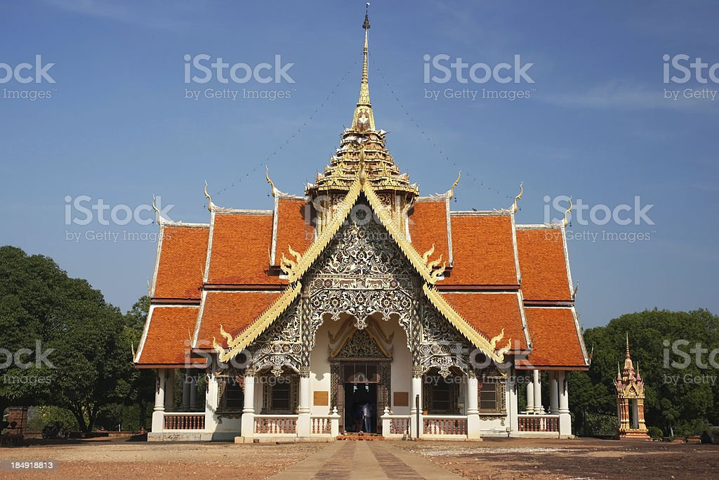 Buddhism Temple in North of Thailand royalty-free stock photo