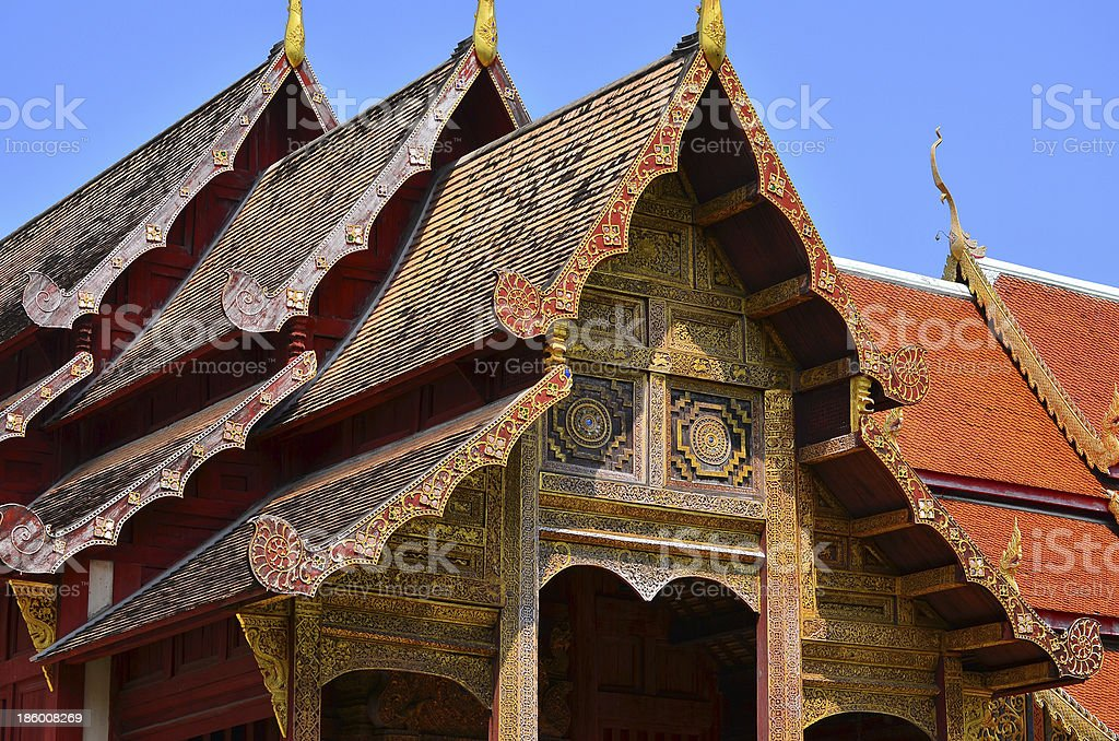Buddhism Temple in Thailand royalty-free stock photo