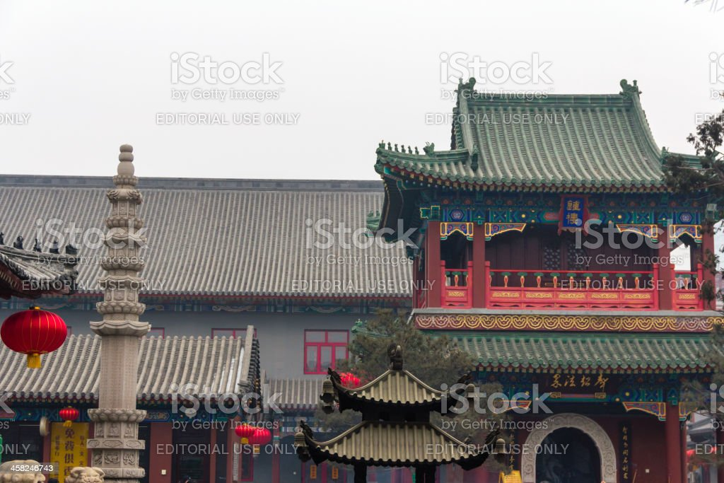 Buddhism Temple in Tianjin royalty-free stock photo