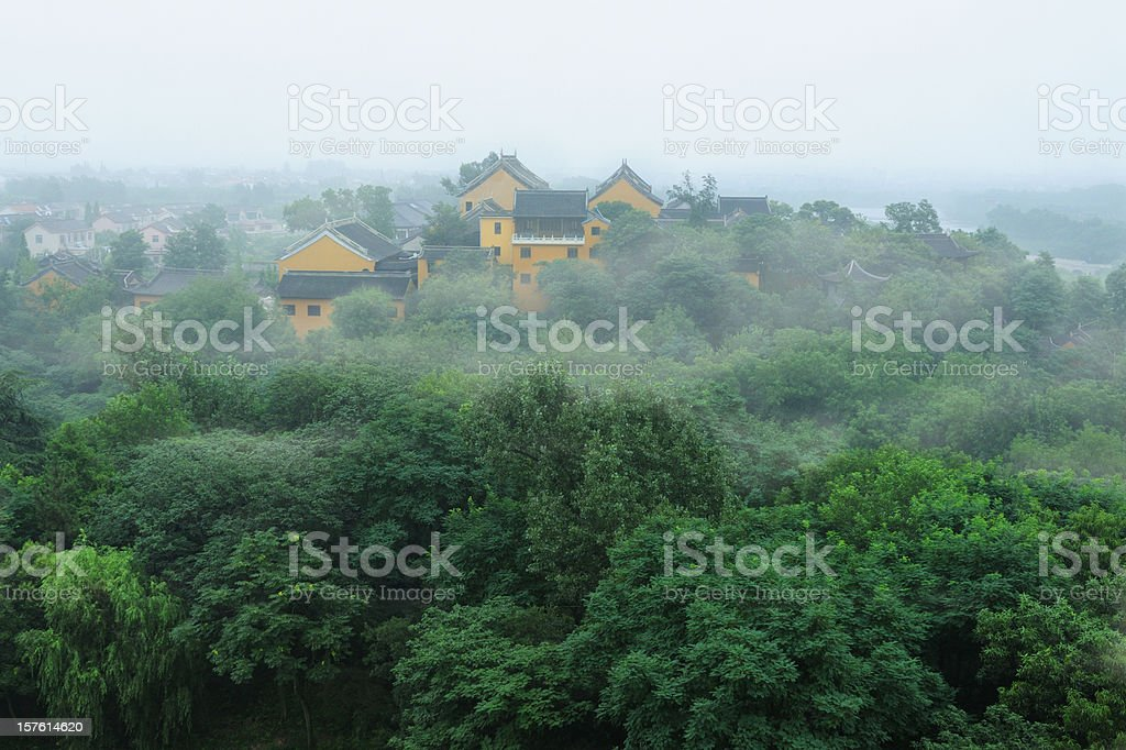 Buddhism Temple On Mountain - XLarge royalty-free stock photo