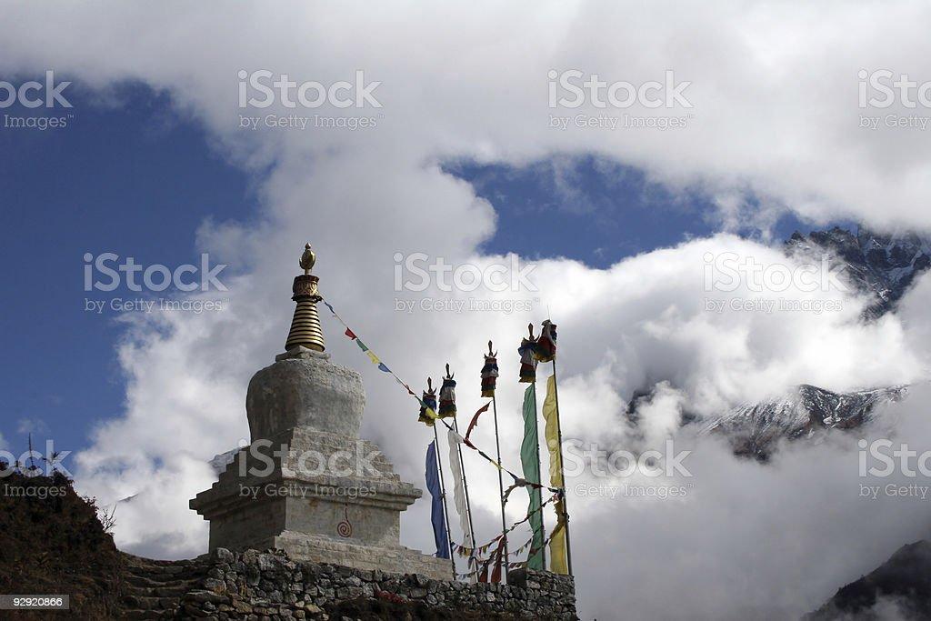 Buddhist Chorten royalty-free stock photo
