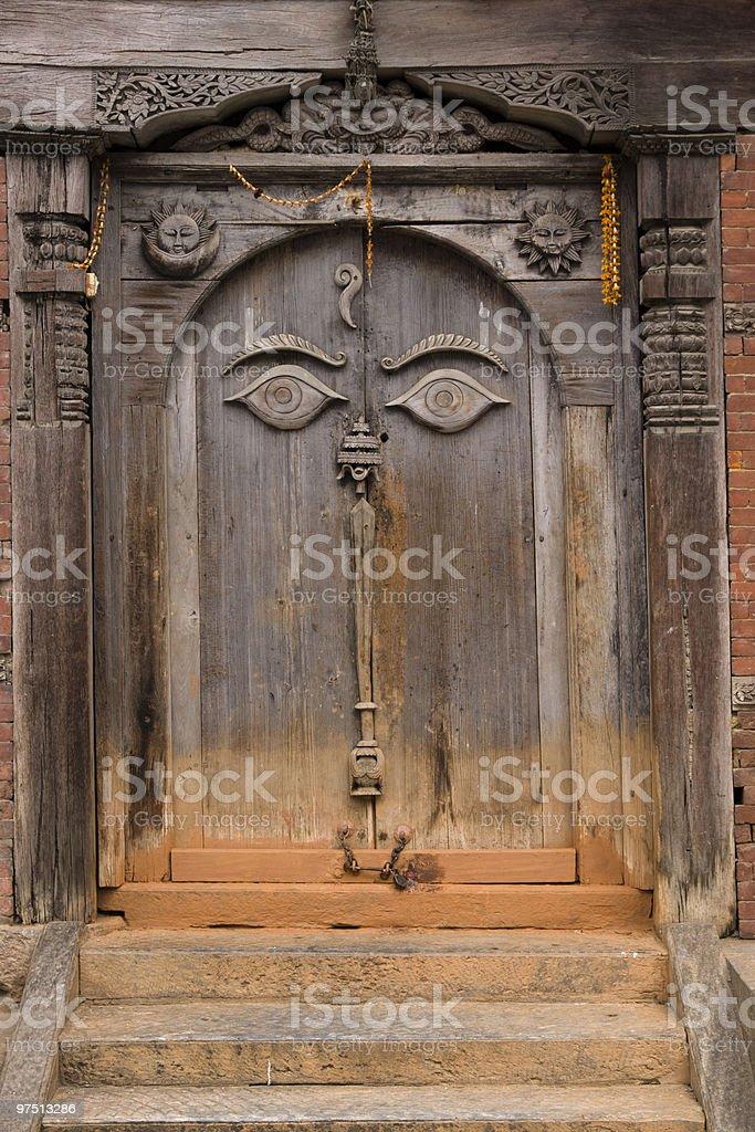 Buddhist Door royalty-free stock photo
