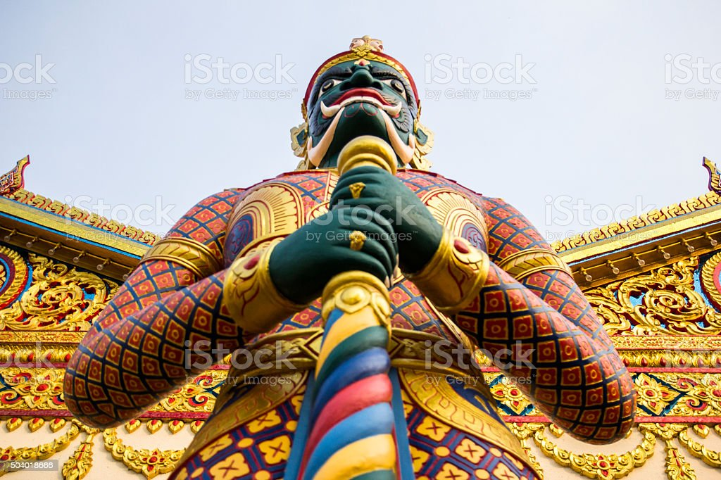 Buddhist landmark of thailand history stock photo