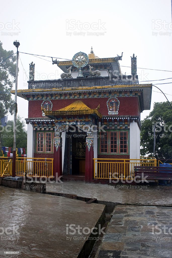 Buddhist monastery in Pelling royalty-free stock photo