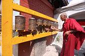 istock Buddhist monk in Kathmandu, Nepal 157771747