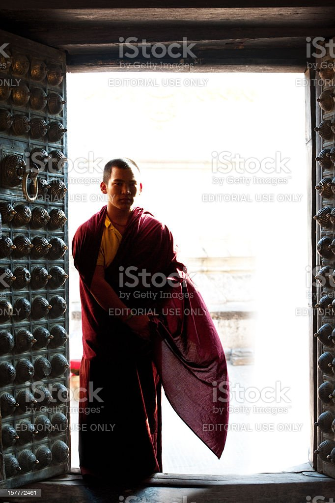 buddhist  monk royalty-free stock photo