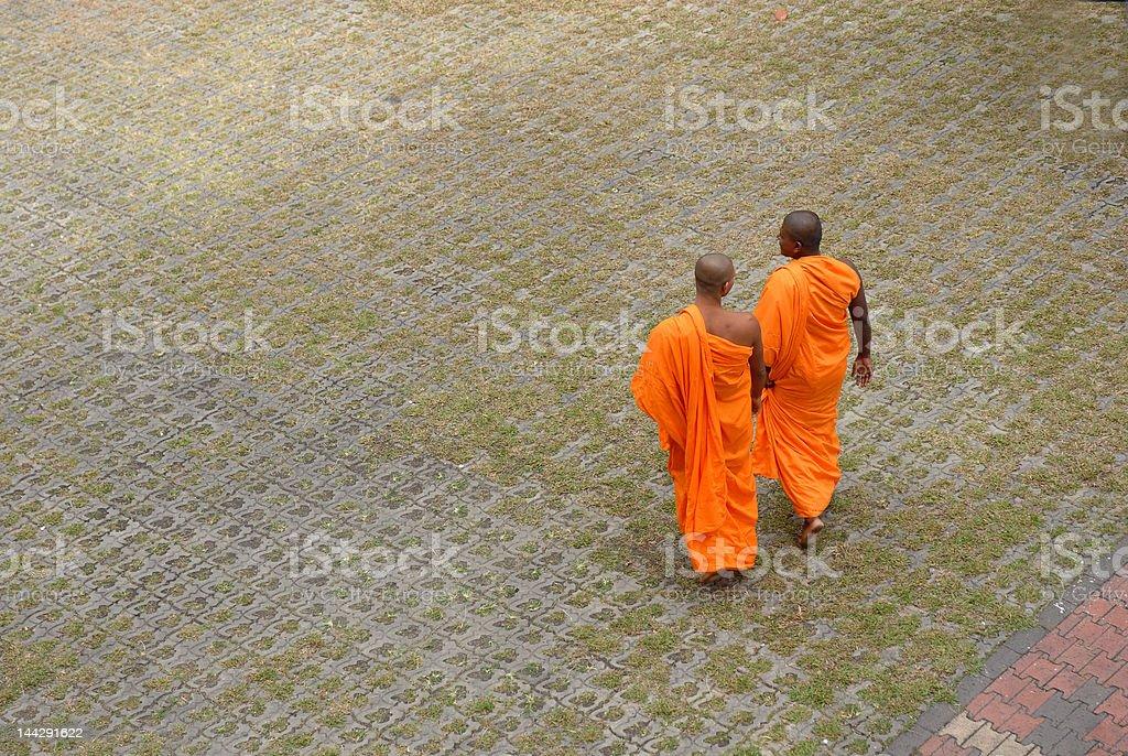 Buddhist Monks royalty-free stock photo
