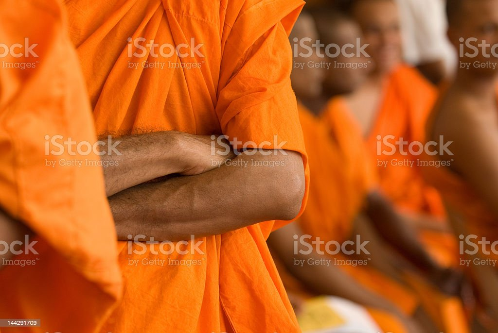 Buddhist Monks royalty-free stock photo