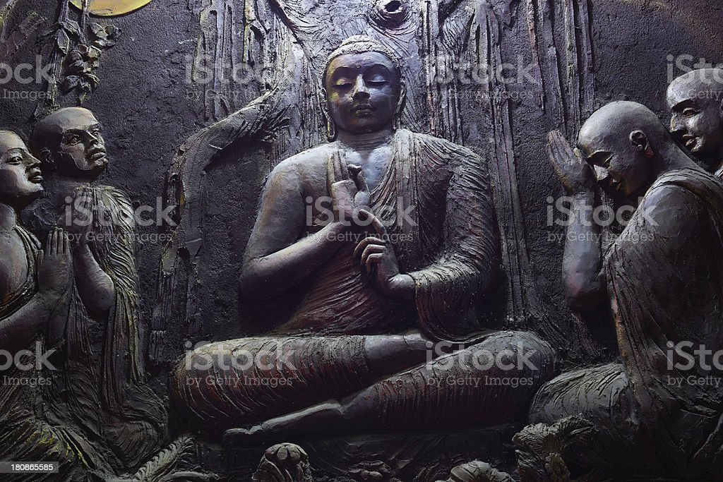 Buddhist mural royalty-free stock photo