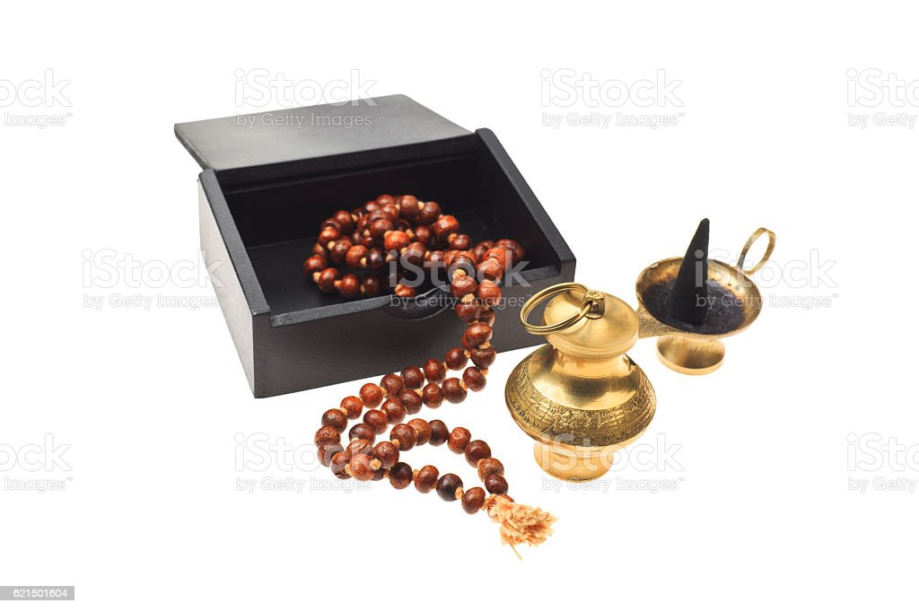 Buddhist or hindu accessories for meditation foto stock royalty-free