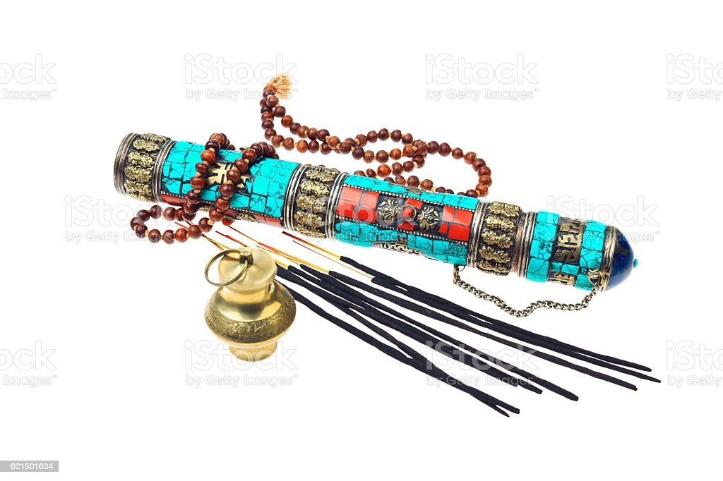 Buddhist or hindu accessories for meditation photo libre de droits