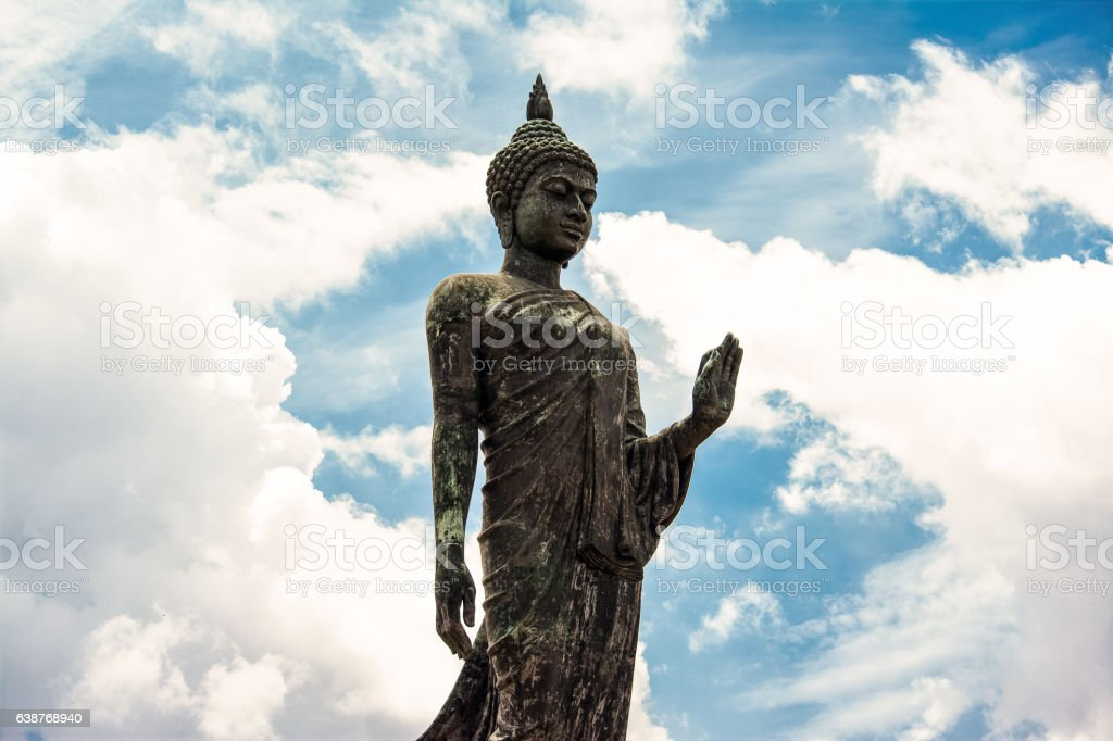 Buddhist park in Nakhon Pathom Province of Thailand. stock photo