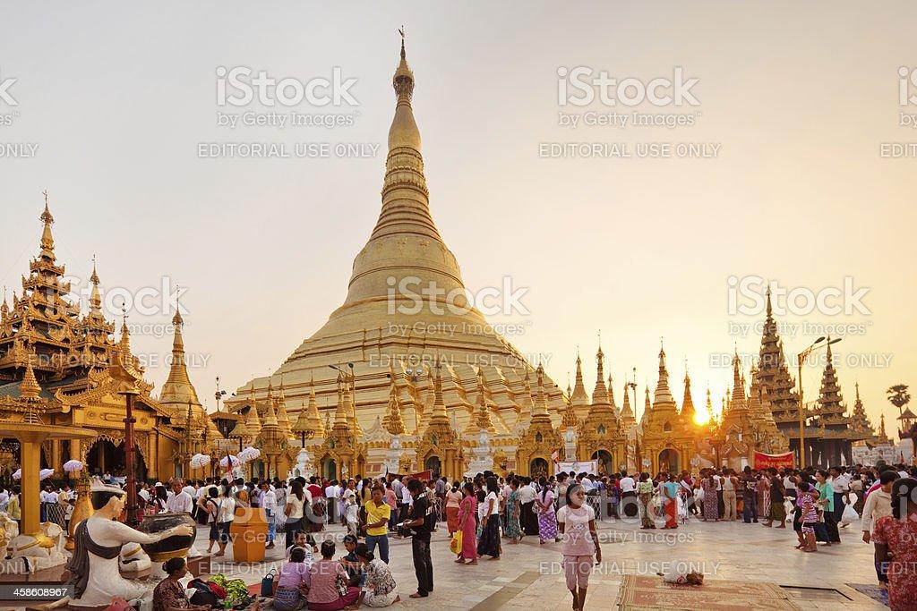 Buddhist Pilgrims royalty-free stock photo