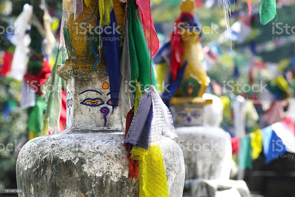 Buddhist prayer flags royalty-free stock photo
