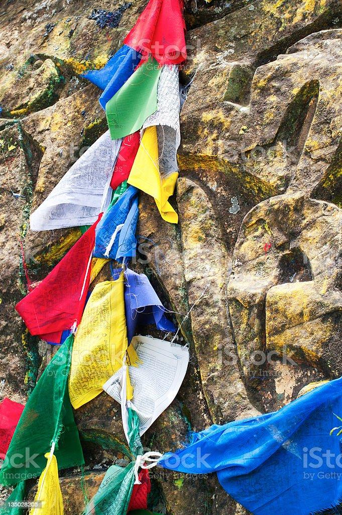 Buddhist prayer stone royalty-free stock photo