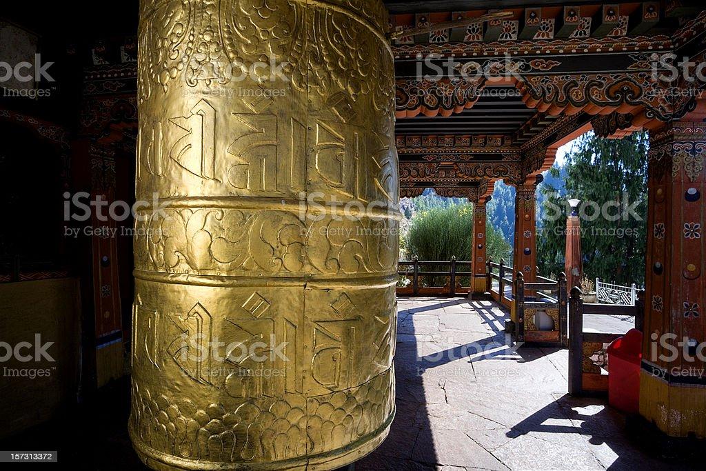 Buddhist Prayer Wheel royalty-free stock photo