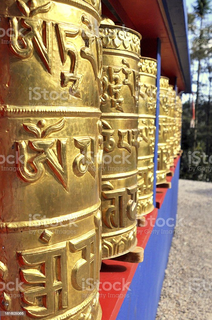 Buddhist Prayer Wheel royalty-free stock photo