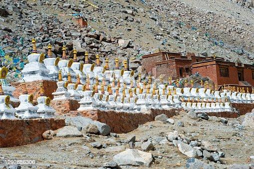 istock Buddhist religious buildings. Tibet, Himalayas. 1292886306