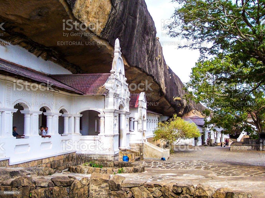 Buddhist rock temple, Sri Lanka,Dambulla stock photo